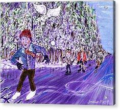 Skating On Thin Ice Acrylic Print
