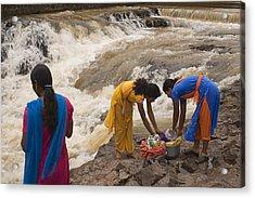 Skc 2621 A Collective Task Acrylic Print by Sunil Kapadia