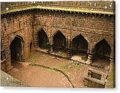 Skc 3278 The Ancient Courtyard Acrylic Print by Sunil Kapadia