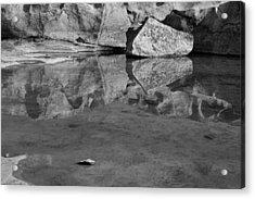 Skc 8590 Rock Reflection Acrylic Print by Sunil Kapadia
