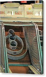 Acrylic Print featuring the photograph Skee Ball At Marty's Playland by Robert Banach
