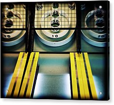 Acrylic Print featuring the photograph Skeeball Arcade Photography by Melanie Alexandra Price