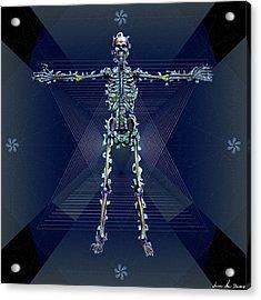 Acrylic Print featuring the digital art Skeletal System by Iowan Stone-Flowers