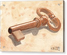 Skeleton Key Acrylic Print by Ken Powers