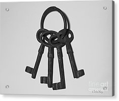 Acrylic Print featuring the photograph Skeleton Keys by Dodie Ulery