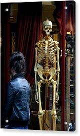 Skeleton Staff Acrylic Print by Jez C Self