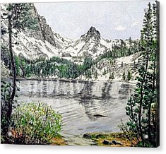 Acrylic Print featuring the painting Skelton Lake by Kevin Daly