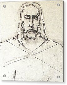 Sketch A Of Christ Acrylic Print by G Cuffia