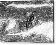 Sketch A Wave Acrylic Print