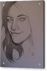 Sketch For Allison Acrylic Print by Ray Agius