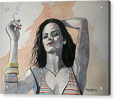 Acrylic Print featuring the painting Sketch For Lucy by Ray Agius