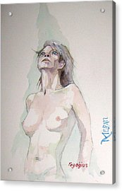 Acrylic Print featuring the painting Sketch For Megan Iv by Ray Agius