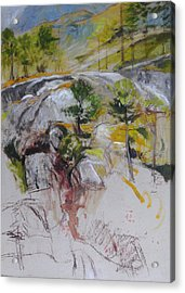 Sketch For Ogwen Painting Acrylic Print by Harry Robertson