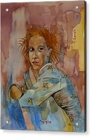 Acrylic Print featuring the painting Sketch For Sarah by Ray Agius