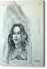 Acrylic Print featuring the painting Sketch For Sera.10.01 by Ray Agius