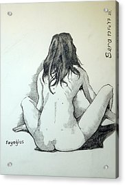 Acrylic Print featuring the painting Sketch For Sera.10.02 by Ray Agius