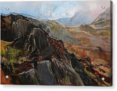 Sketch In Snowdonia Acrylic Print by Harry Robertson