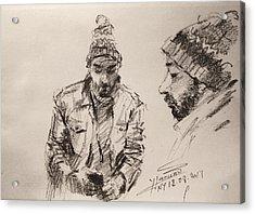 Sketch Man 13 Acrylic Print