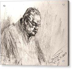 Sketch Man 17 Acrylic Print
