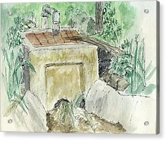 Sketchbook 003 Acrylic Print by David King