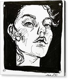 Sketchbook Scribbles Acrylic Print