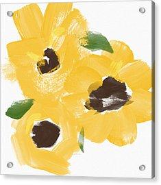 Sketchbook Sunflowers- Art By Linda Woods Acrylic Print by Linda Woods
