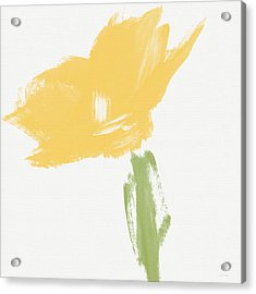 Sketchbook Yellow Rose- Art By Linda Woods Acrylic Print