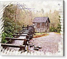 Sketchy Mingus Mill 3 Acrylic Print by Marty Koch