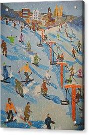 Ski Hill Acrylic Print by Rodger Ellingson