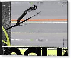Ski Jumper Acrylic Print by Naxart Studio