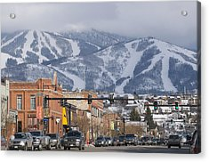Ski Resort And Downtown Steamboat Acrylic Print