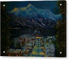 Ski Resort Acrylic Print