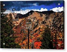 Ski Slope In Autumn Acrylic Print