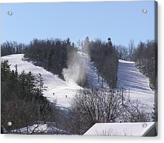 Ski Slope Acrylic Print by Richard Mitchell