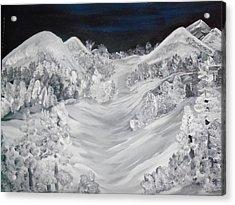 Ski Slope Acrylic Print by Teresa Nash