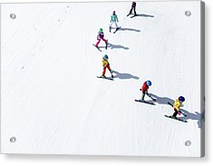Ski  Acrylic Print by Tom Cuccio