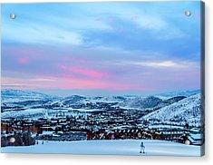 Ski Town Acrylic Print