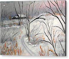 Ski Trail Acrylic Print