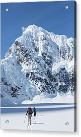 Skiers And Shadows Acrylic Print by Tim Grams