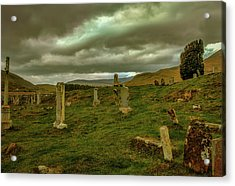 Acrylic Print featuring the photograph Skies And Headstones #g9 by Leif Sohlman