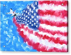 Acrylic Print featuring the mixed media Skies Over America by Mark Tisdale