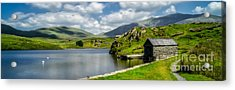 Skies Over Snowdon Acrylic Print by Adrian Evans