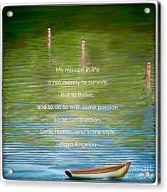 Skiff Boat Quote Acrylic Print