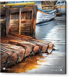 Skinner's Pond Acrylic Print by Bob Salo