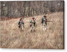 Skirmish Line Acrylic Print by Randy Steele