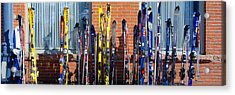 Skis At Vail, Colorado Acrylic Print