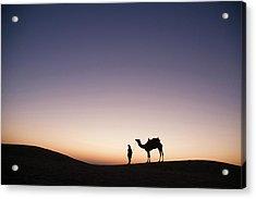 Skn 0860 Dawn At The Dunes Acrylic Print by Sunil Kapadia