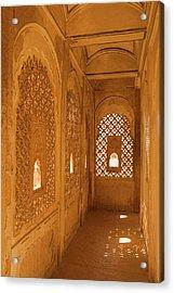 Skn 1241 Carved Niche Acrylic Print by Sunil Kapadia
