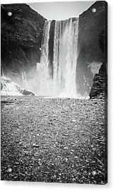 Skogafoss In Winter Acrylic Print