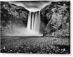Acrylic Print featuring the photograph Skogafoss by James Billings